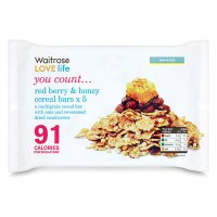 Waitrose LOVE Life you count  Red Berry & Honey Cereal Bars x 5