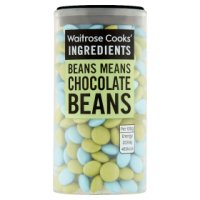 Waitrose Cooks' Homebaking blue & green coloured beans