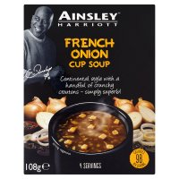 Ainsley Harriott French onion cup soup, 4 servings