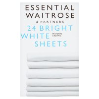 essential Waitrose bright white sheets laundry detergent