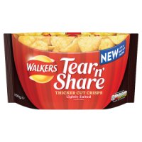 Walkers Tear'n'Share Thicker Cut Crisps Lightly Salted