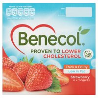 Benecol Strawberry Yogurts