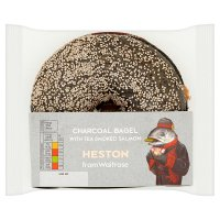 Heston from Waitrose Charcoal Bagel with Tea Smoked Salmon