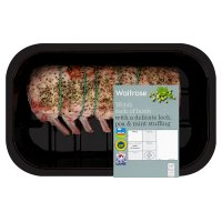 Waitrose Welsh rack of lamb with leek, pea & mint stuffing