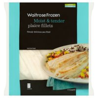 Waitrose Frozen plaice fillets