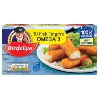Birds Eye frozen fish fingers with omega 3