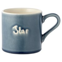 Waitrose Crackle Star Text Grey Mug