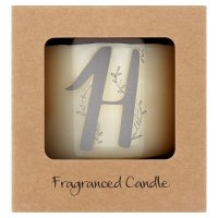 Waitrose Alphabet H Coconut & Sandalwood Candle