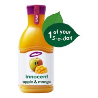 Innocent apple and mango juice