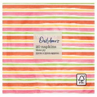 Waitrose Outdoors Multi Stripe Napkins 33cmx33cm