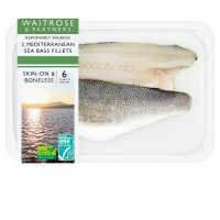 Waitrose 2 boneless Mediterranean sea bass fillets