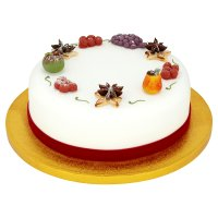 Christmas Fruit Cake with Marzipan Decorations - Waitrose