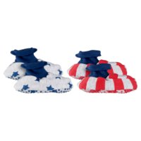Waitrose baby boy booties, pack of 2