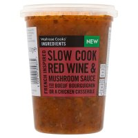 Waitrose Cooks' Ingredients slow cook red wine & mushroom sauce