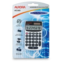 Aurora handheld calculator