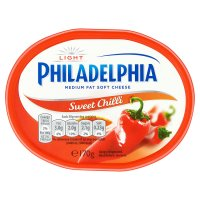 Philadelphia Light with sweet chilli soft white cheese