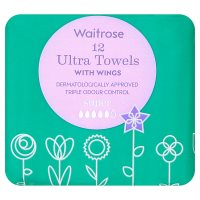 Waitrose Ultra Towels with Wings Super