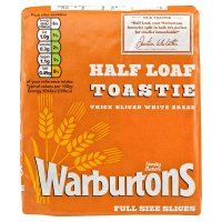 Warburtons Toastie White Sliced Half Loaf
