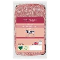 Waitrose British veal delicately flavoured mince (typically 15% fat)