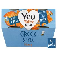 Yeo Valley 0% fat Greek style yogurt with honey