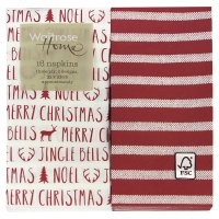 Waitrose Home Red Stripes Napkins