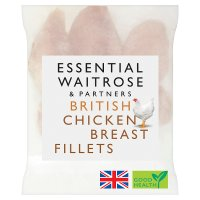 essential Waitrose Frozen British chicken breast fillets