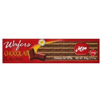 Man chocolate flavoured wafers