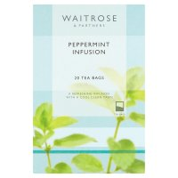 Waitrose LOVE life 20 peppermint infusion tea bags