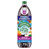 Robinsons no added sugar apple & blackcurrant, double concentrates