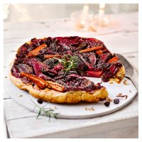 Roast beetroot, red onion & carrot tart tatin