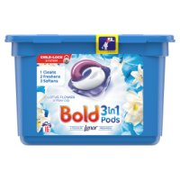 Bold 2in1 Pearls white lily & lotus flower washing capsules, 18 washes