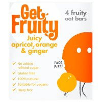 Get Fruity Apricot, Orange & Ginger Oat Bars