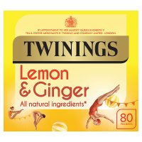 Twinings lemon & ginger 80 tea bags