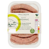 Duchy Originals from Waitrose 12 Organic British pork chipolatas