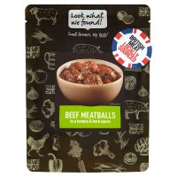 Look What We Found! Beef & basil meat balls in tomato sauce