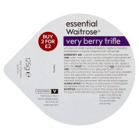 essential Waitrose very berry trifle