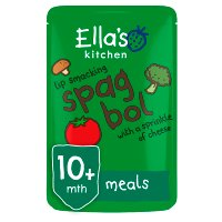 Ella's Kitchen Organic lip smacking spag bol with a sprinkle of cheese  - stage 3 baby food