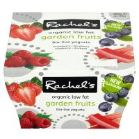 Rachel's organic low fat garden fruits yogurts