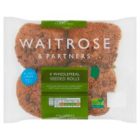 Waitrose LoveLife 4 wholemeal seeded rolls