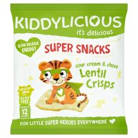 Kiddylicious Sour Cream Lentil Crisps