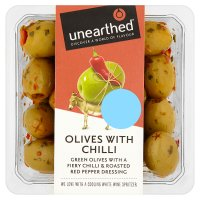 Unearthed chilli olives