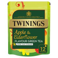 Twinings apple & elderflower green tea 12 pyramids