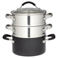 Waitrose Cooking Aluminium Steamer Set
