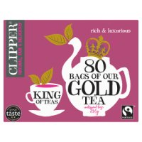 Clipper fairtrade 80 gold tea bags