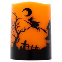 Waitrose Halloween LED Pillar Candle