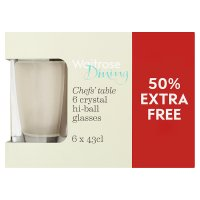Waitrose Dining chefs table 6 pack crystal tumblers - 50% Free