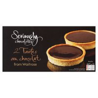 Waitrose Seriously frozen 2 tartes au chocolat