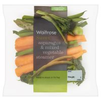 Waitrose Asparagus & Mixed Vegetable Steamer