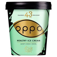 Oppo ice cream mint choc swirl with spirulina