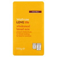 Waitrose LOVE life wholemeal bread mix